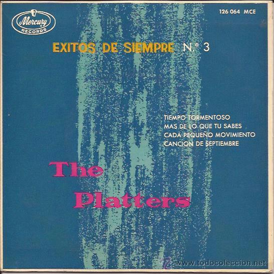 EP-THE PLATTERS EXITOS NUM.3-MERCURY 126064-ESPAÑA 1962-STORMY WEATHER (Música - Discos de Vinilo - EPs - Rock & Roll)
