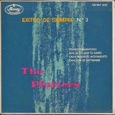 Discos de vinilo: EP-THE PLATTERS EXITOS NUM.3-MERCURY 126064-ESPAÑA 1962-STORMY WEATHER. Lote 52305207