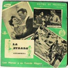 Discos de vinilo: LEN MERCER - EXITOS DE PELICULAS VOL. 2 - SINGLE BANDA SONORA - LA STRADA - JOHNNY GUITAR . Lote 38211764