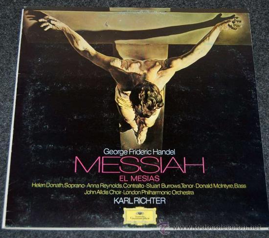 EL MESIAS - HANDEL - KARL RICHTER - 3 DISCOS CON LIBRETO - DEUTSCHE GRAMMOPHON (Música - Discos - LP Vinilo - Clásica, Ópera, Zarzuela y Marchas)