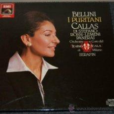 Discos de vinilo: OPERA I PURITANI - MARIA CALLAS - DI STEFANO - CAJA - DISCOS NUEVOS DMM. Lote 38213393
