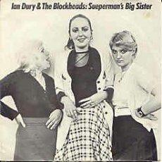 Discos de vinilo: IAN DURY / SUEPERMAN'S BIG SISTER 1980 !! UK 1ª EDIC. ORIG. STIFF !! TODO IMPECABLE !!. Lote 38238059