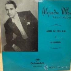 Discos de vinilo: ALEJANDRO ULLOA. RECITADOS. AHORA ME TOCA A MI. EP COLUMBIA 1962. CALIDAD NORMAL. ***/***. Lote 38253194