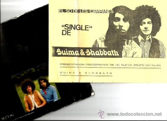 Discos de vinilo: SINGLE GUIMA & SHABBATH : LA CIUTAT + EL SO DE LES CAMPANES (PSYCH FREAK FOLK ) - Foto 2 - 38279861