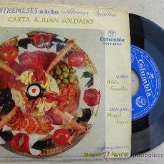 Discos de vinilo: ENTREMESES HNOS, ALVAREZ QUINTERO -SINGLE 1959 -MAS 50 EUROS GASTOS ENVIO GRATIS. Lote 38279989