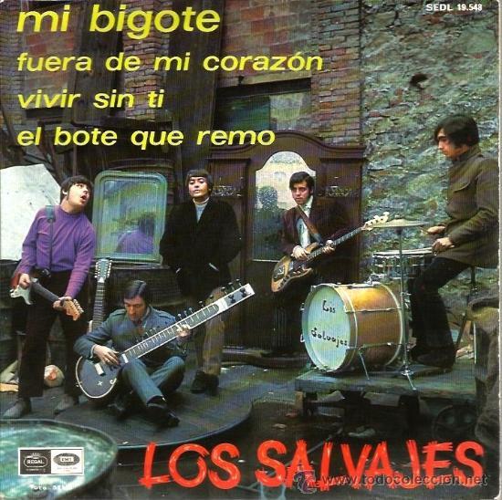 EP LOS SALVAJES : ,MI BIGOTE (Música - Discos de Vinilo - EPs - Grupos Españoles 50 y 60)