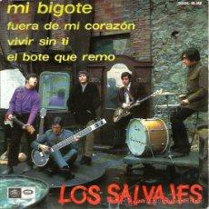 Discos de vinilo: EP LOS SALVAJES : ,MI BIGOTE. Lote 38298298