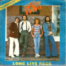 Discos de vinilo: EP THE WHO : LONG LIVE ROCK + I´M THE FACE + MY WIFE . Lote 38298768