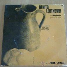 Discos de vinilo: BENITO LERTXUNDI SUJET EDER BAT + 3 EP EDIGSA 1968 HERRI GOGOA INCLUYE LETRAS. Lote 153719677