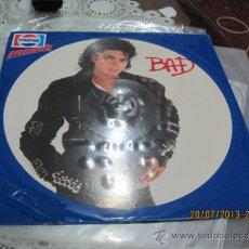 Discos de vinilo: MICHAEL JACKSON - BAD- PICTURE DISC CON FUNDA PROMO PEPSI-HOLANDA-MIRAD DESCRICION-. Lote 38309917