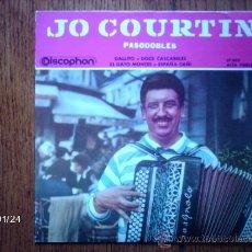 Discos de vinilo: JO COURTIN - PASODOBLES - EL GATO MONTES + 3. Lote 38329998