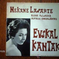 Discos de vinilo: NEKANE LASARTE CON ELENA POLONSKA AL ARPA - BORTIAN AHUZKI + 5. Lote 38338356