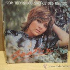 Discos de vinilo: BEATRIZ. POR TODOS LOS SUEÑOS DEL MUNDO. SINGLE / EMI - 1992. BUENA CALIDAD. ***/***. Lote 38313199