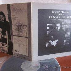 Discos de vinilo: RAMON ANDRES LP CANTA A BLAS DE OTERO ARIOLA ORIGINAL ESPAÑA 1977. Lote 38328903