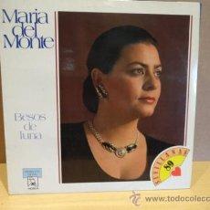 Discos de vinilo: MARÍA DEL MONTE. BESOS DE LUNA. LP HORUS 1989 - LETRAS. CALIDAD LUJO. ****/****. Lote 38332590