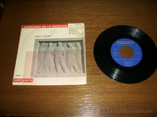 SINGLE - COBLA LAIETANA - ANTOLOGIA DE LA SARDANA BOU 1886/1962- EDITION SPANISH (Música - Discos - Singles Vinilo - Étnicas y Músicas del Mundo)