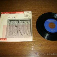 Discos de vinilo: SINGLE - COBLA LAIETANA - ANTOLOGIA DE LA SARDANA BOU 1886/1962- EDITION SPANISH. Lote 38358873