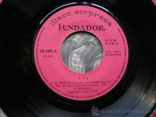 EP/ 45 RPM - EVA - EL PICHI - MADRID - LOS NARDOS - ROSA DE MADRID. (Música - Discos de Vinilo - EPs - Solistas Españoles de los 50 y 60)