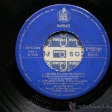 Discos de vinilo: RAPHAEL - EUROVISIÓN 67:HABLEMOS DEL AMOR,SI UN AMOR SE VA,NO TIENE IMPORTANCIA,QUÉDATE CON NOSOTROS. Lote 38364096