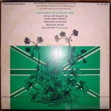 Discos de vinilo: BARRY, M./ GORMAN./ ENNIS./ HEANEY. IRISH MUSIC IN LONDON PUBS. FOLKWAYS, ESP. 1983 LP + LIBRETO. Lote 38367581