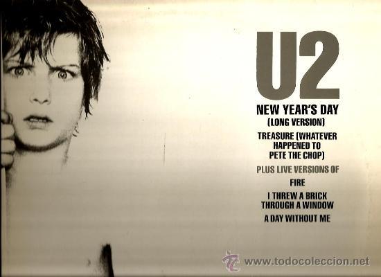 MAXI U2 : NEW YEAR´S DAY (LONG VERSION) (Música - Discos de Vinilo - Maxi Singles - Pop - Rock - New Wave Extranjero de los 80)