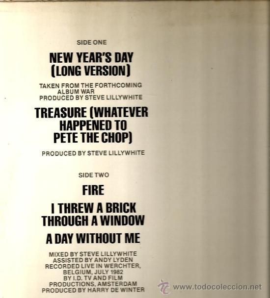 Discos de vinilo: MAXI U2 : NEW YEAR´S DAY (LONG VERSION) - Foto 2 - 38375065
