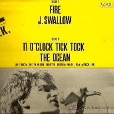 Discos de vinilo: MAXI U2 : R.O.K. ( FIRE, J. SWALLOW, 11 O´CLOCK TICK TOCK, THE OCEAN ) . Lote 38375222