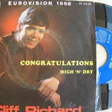 Discos de vinilo: CLIFF RICHARD -SINGLE 1968 - (PEDIDO MINIMO 3 EUROS). Lote 38388176