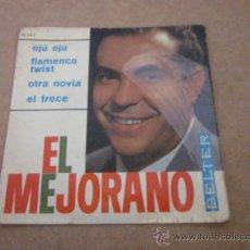 Discos de vinilo: SINGLE, VINILO, EL MEJORANO. Lote 38386707