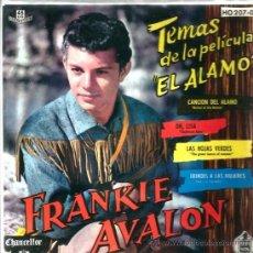 Discos de vinilo: EP TEMAS DE LA PELICULA EL ALAMO ( DIMITRI TIOMKIN ) - CANTA FRANKIE AVALON . Lote 38387537