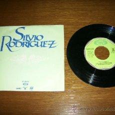 Discos de vinilo: SINGLE - SILVIO RODRIGUEZ - RIO (PROMOTIONAL) - SPANISH. Lote 38390337