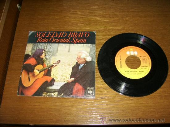 SINGLE - SOLEDAD BRAVO - ROTA ORIENTAL, SPAIN - SPANISH (Música - Discos - Singles Vinilo - Cantautores Españoles)