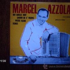 Discos de vinilo: MARCEL AZZOLA ET SON ENSEMBLE - PETITE FLEUR + 3. Lote 38392085