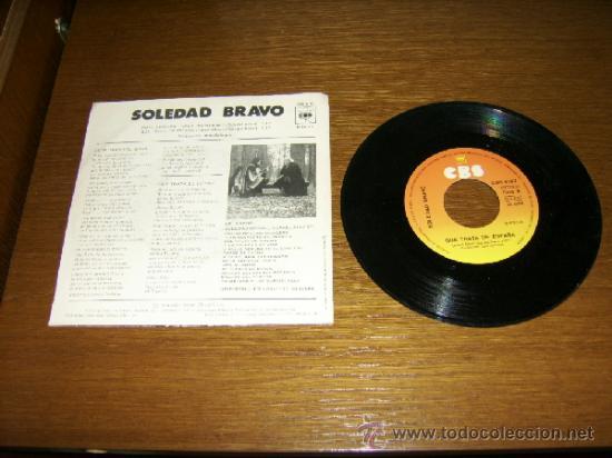 Discos de vinilo: SINGLE - SOLEDAD BRAVO - ROTA ORIENTAL, SPAIN - SPANISH - Foto 2 - 38390349