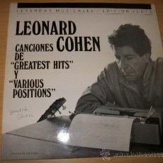 Discos de vinilo: 2LP LEONARD COHEN – LEYENDAS MUSICALES EDICION PLATA – CIRCULO DE LECTORES + BOOKLET. Lote 38392024