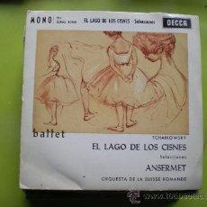 Discos de vinilo: ERNEST ANSERMET -EL LAGO DE LOS CISNES ORQ. SUISSE ROMANDE (DECCA EP 1962) ESPAÑA. Lote 38399489