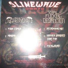 Discos de vinilo: EP SLIMEWAVE SERIES – 1 DE 6 – MACHETAZO – TOTAL FUCKING DESTRUCTION – GRINDCORE – RELAPSE #508. Lote 38401525