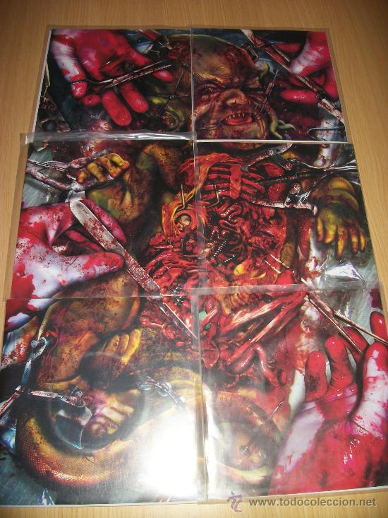SLIMEWAVE SERIES – 6 EPS – COMPLETO – MACHETAZO, CRIPPLE BASTARDS, GRINDCORE – RELAPSE – LIMITED (Música - Discos de Vinilo - EPs - Heavy - Metal)