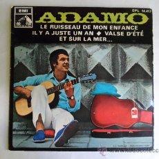 Discos de vinilo: ** ADAMO - LE RUISSEAU DE MON ENFANCE + 3 - EP AÑO 1968. Lote 38407180