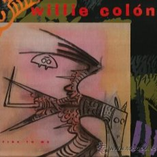 Discos de vinilo: MAXI SALSA - WILLIE COLON . SET FIRE TO ME . Lote 38407768
