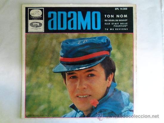 ** ADAMO - TON NOM + 3 - EP AÑO 1966 - LEER DESCRIPCIÓN (Música - Discos de Vinilo - EPs - Cantautores Internacionales)