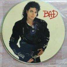 Discos de vinilo: MICHAEL JACKSON BAD RARISIMO PICTURE DISC FOTODISCO MADE IN USA 1987. Lote 38408125