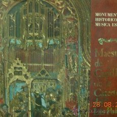 Discos de vinilo: MONUMENTOS HISTORICOS DE LA MÚSICA ESPAÑOLA LP . Lote 38408447