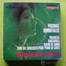Discos de vinilo: HUGO WINTERHALTER Y SU ORQUESTA / PAGINAS INMORTALES/ POLONESA+3 EP VERGARA. Lote 38410928