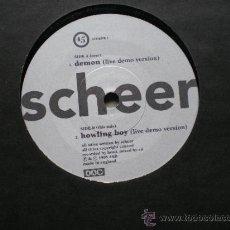 Disques de vinyle: SCHEER DEMO(LIVE DEMO VERSION)+HOWLING BOY(LIVE DEMO VERSION) SINGLE UK. Lote 38532628
