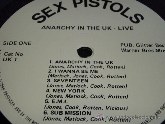 Discos de vinilo: SEX PISTOLS ( ANARCHY IN THE UK LIVE! ) ENGLAND-1985 LP33 WARNER BROS MUSIC - Foto 3 - 38424574