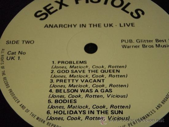 Discos de vinilo: SEX PISTOLS ( ANARCHY IN THE UK LIVE! ) ENGLAND-1985 LP33 WARNER BROS MUSIC - Foto 4 - 38424574