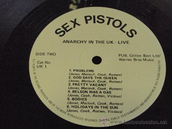 Discos de vinilo: SEX PISTOLS ( ANARCHY IN THE UK LIVE! ) ENGLAND-1985 LP33 WARNER BROS MUSIC - Foto 5 - 38424574