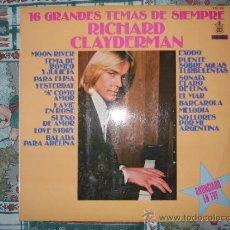 Disques de vinyle: RICHARD CLAYDERMAN 16 GRANDES TEMAS DE SIEMPRE . Lote 38435357