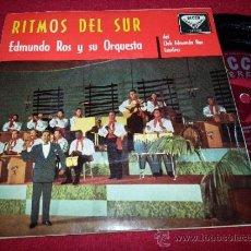 """Discos de vinilo: EDMUNDO ROS ORQUESTA LA VIDA ROSA/SIBONEY/ABRIL EN PORTUGAL +1 7"""" EP 1960 DECCA SPAIN LATIN RITMOS . Lote 38440398"""